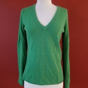 J. CREW Green Soft 100% Cashmere Knit Sweater Top